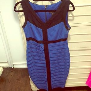 Fitted blue dress